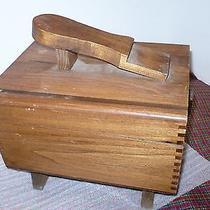 Vintage Wooden Shoe Shine Box Photo