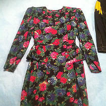 Vintage Wool Escada Dress by Margaretha Lev Size 34 C. 1980s Photo