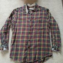 Vintage Woolrich Wool Shirt Jacket Green Red Yellow Flannel Mediumish Photo