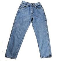 Vintage Wrangler Sz 29 Super High Rise Blue Slim Straight Leg Mom Jeans Usa Made Photo
