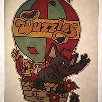 Vintage Wuzzles Iron-on T-Shirt Heat Transfer Animal Fantasy Cartoon Photo