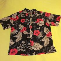 Vintage Xl Men's Havana Jack Cafe Silk Hawaiian Tropical Print Button Up Shirt Photo
