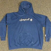 Vintage Y2k Element Skateboarding Embroidered Blue Hoodie Mens Size Xxl Photo