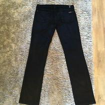 Vintagey2kseven(7)black Fine cord.lowstraight Jeans/trousers Sz 30/uk 12 Photo