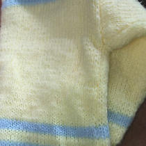 Vintage Yellow & Blue Baby Wool-Blend Pullover No Tag Guessing  6-9months Photo