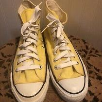 Vintage Yellow Converse All Star Chuck Taylors High Top 8 1/2  Made in Usa Men Photo