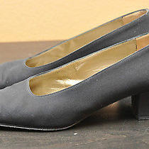 Vintage Ysl Pumps 7.5 Yves Saint Laurent Black Pumps Vtg Ysl Heels Made in Italy Photo