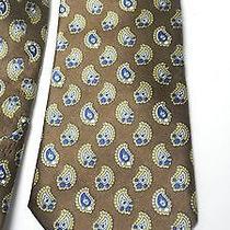 Vintage Ysl Yves Saint Laurent Brown Silk Neck Tie Photo