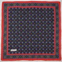 Vintage Ysl Yves Saint Laurent Geometric Retro Mod Blue Red Green Silk 32