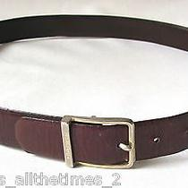 Vintage Ysl Yves Saint Laurent Men's Leather Belt Sz 34 Photo