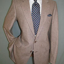 Vintage Ysl Yves Saint Laurent Two Button Side Vent Herringbone Men Jacket 38 L Photo