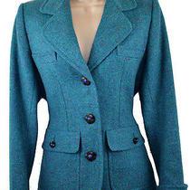 Vintage Yves Saint Laurent Blazer 36 Wool Colorful Tweed Coat Jacket France Photo