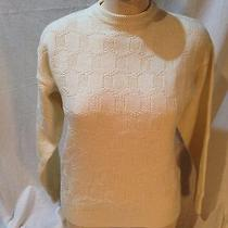 Vintage Yves Saint Laurent Mens Crew Neck Creme Wool Sweater Size M Ysl Photo