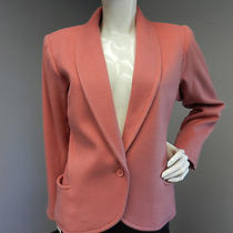Vintage Yves Saint Laurent Rive Gauche Pink 100% Wool  Blazer Jacket Size 40 Photo