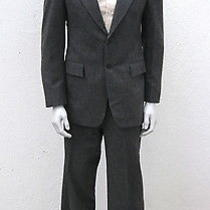 Vintage Yves Saint Laurent Ysl Gray Pin Striped Wool Suit Photo