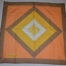 Vintage  Yves Saint Laurent  Ysl Mod  Squares Art  Scarf Photo