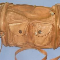 Vintage Zip Up Travel Bag Purse From Columbia Genuine Leather  Photo