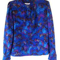 Vintge 1970s Yves Saint Laurent Wool Floral Peasant Blouse Photo