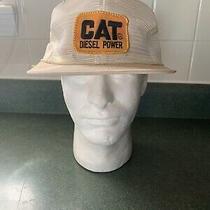 Vintsge Cat Diesel Power Trucker Snapback Hat Mesh W/ Pat H K Brand Made in Usa Photo
