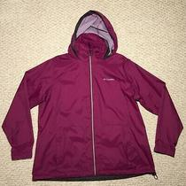 Violet Columbia Windbreaker With Packable Hoodie Photo