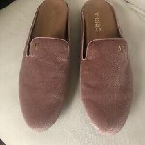 Vionic Carnegie Holiday Velvet Suede Scaled Slip on Mules Womens Blush Pink 8.5 Photo