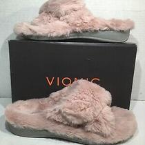 Vionic Womens Size 7 Eu 38 Indulge Relax Plush Blush Comfort Slippers Ze-14 Photo