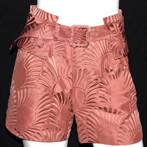 Vionnet Antique Rose Pink Floral Jacquard Shorts 38 Photo