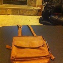Vitage Fossil Leather Bag Pocketbook Purse Sachel Pouch  - Shoulder Strap  Photo