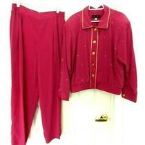Vital Elements by Clifford Pant Suit Set Jacket & Pants-Xl Pretty Fuchsia Photo