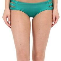 Vitamin a Womens Swimwear Jade Green Size Xs Chloe Braided Bikini Bottom 58 226 Photo