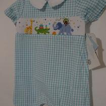 Vive La Fete Boy Smocked Bubble Aqua Birthday Party 12 M New Photo