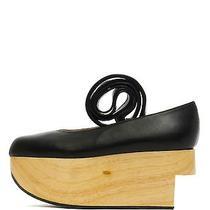 Vivienne Westwood 660 Rocking Horse Ballerina Kid Black Wedge Leather Shoe 7/37 Photo