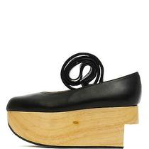 Vivienne Westwood 660 Rocking Horse Ballerina Kid Black Wedge Leather Shoe 8/38 Photo