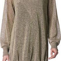 Vivienne Westwood Anglomania 524 Gold Deep v-Neck Agitator Sweater Dress M New Photo