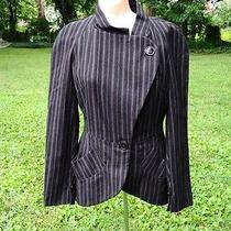 Vivienne Westwood Anglomania Black Pinstripe Jacket Size 8 Photo