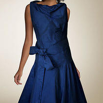 Vivienne Westwood Anglomania Blue Taffeta Dress Size l(42) Photo