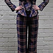 Vivienne Westwood Anglomania Brown Blue Plaid Jacket Pants Set 42  Photo