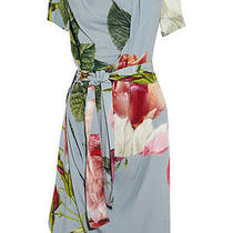 Vivienne Westwood Anglomania Daisy Blue Floral-Print Crepe Dress It 40 Uk 8/10 Photo