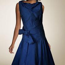 Vivienne Westwood Anglomania Dark Blue Taffeta Dress Size M (40) Photo
