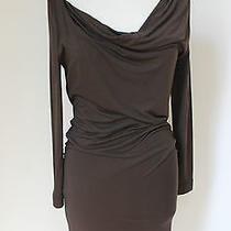 Vivienne Westwood Anglomania Dress Loxo Brown Jersey Cowl Neck Dress M Photo