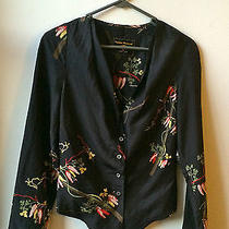 Vivienne Westwood Anglomania Hand Painted Silk Shirt- Flattering Fit Photo