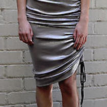 Vivienne Westwood Anglomania Metallic Grey Runched Dress M Nwt Photo