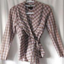 Vivienne Westwood Anglomania Plaid Cotton Wrap Blouse - Sz 42 Italy Photo