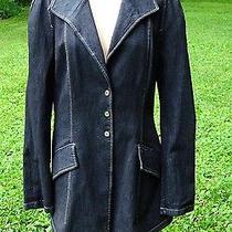 Vivienne Westwood Anglomania Stretch Denim Jacket Blazer Size 12 Photo
