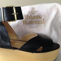 Vivienne Westwood Black Leather Rocking Horse Platform Sandals Uk5 / Us 7.5  Photo