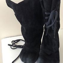 Vivienne Westwood Black Suede Bag Boots High Heels Us 8 / Uk 5 / Eu 38 Photo