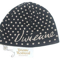 Vivienne Westwood Black Wool Men's Small Knitted Slouchy Orb Winter Beanie Hat Photo