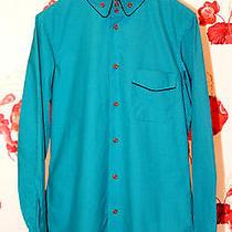 Vivienne Westwood Blue Striped  Mens Slim Fit Dress Shirt Photo