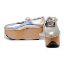 Vivienne Westwood Gold Label Rocking Horse Shoes Ballerina Silver Uk5 Photo