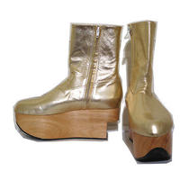Vivienne Westwood Gold Label Rocking Horse Shoes Boots Gold Metallic Uk6 Photo